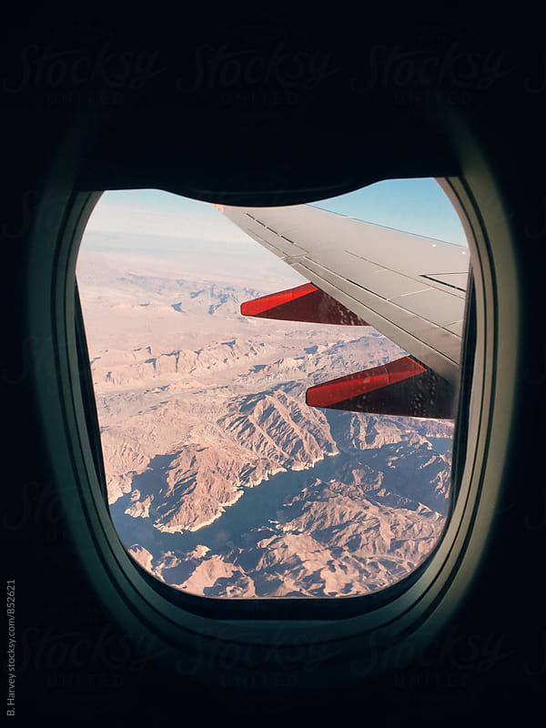 Outside the Airplane Window by B. Harvey for Stocksy United