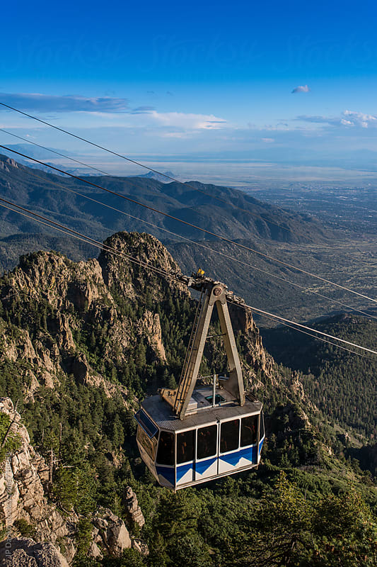 Sandia Peak Tram Albuquerque New Mexico Sandia Mountains Tramway by JP Danko for Stocksy United