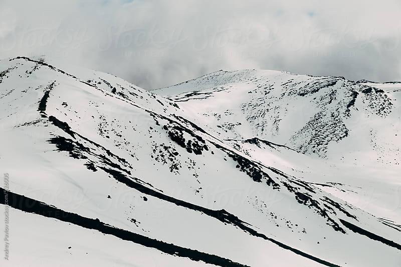 Snow-capped hillside by Andrey Pavlov for Stocksy United