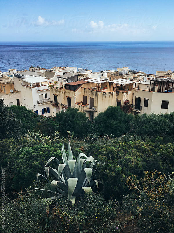 Sicily - Marettimo Village and the Mediterranean Sea by VISUALSPECTRUM for Stocksy United