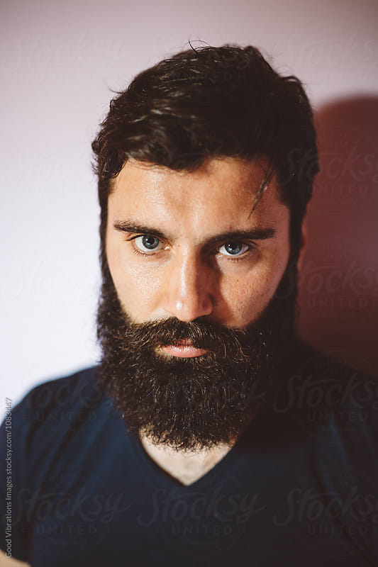 Bearded man portrait by Good Vibrations Images for Stocksy United