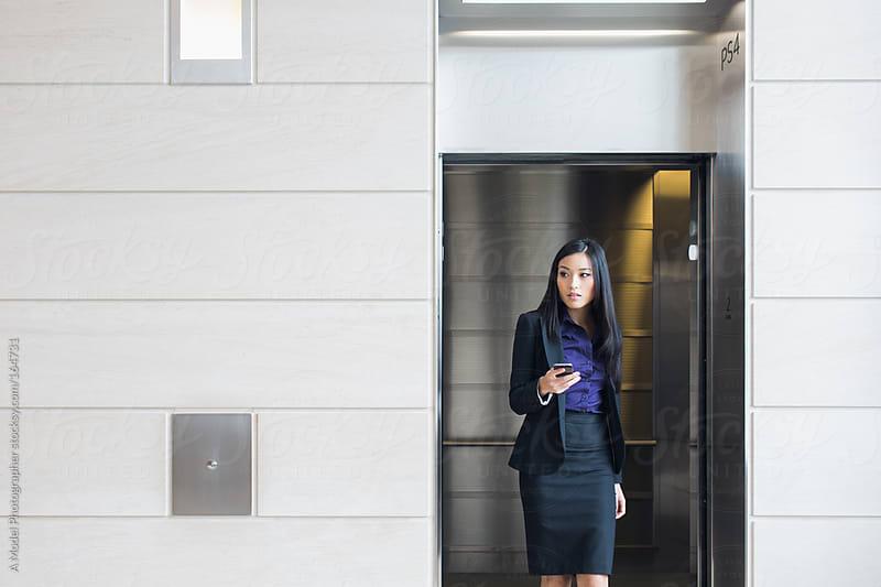 Asian Girl In Elevator