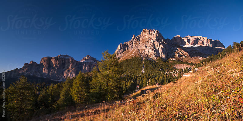 Mountain panorama in Dolomites, Italy by Peter Wey for Stocksy United