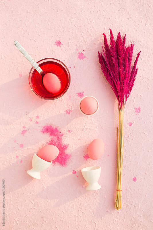 Pink themed Easter set by Marija Savic for Stocksy United
