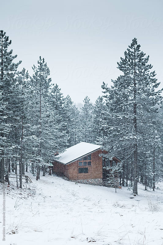 Mountain House in the Wintertime by Branislav Jovanović for Stocksy United