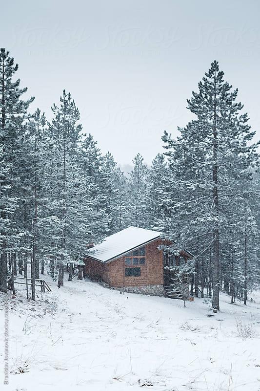Mountain House in the Wintertime by Branislav Jovanovic for Stocksy United
