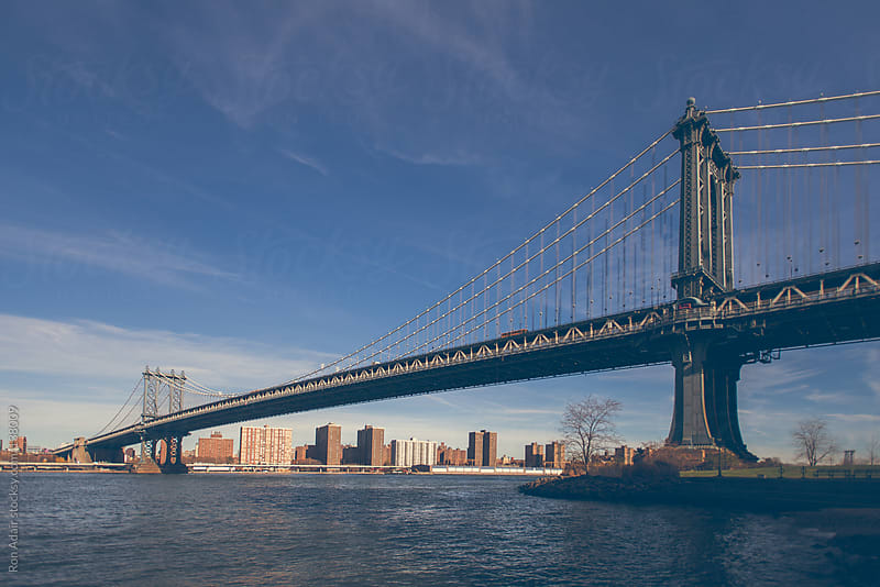 Morning view of George Washington Bridge in New York City by Ron Adair for Stocksy United