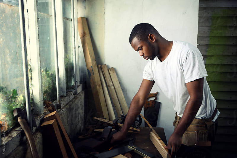 Young carpenter  by kkgas for Stocksy United