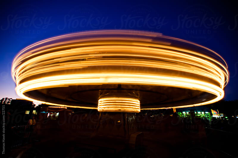 Time Exposure Merry Go Round by Thomas Hawk for Stocksy United