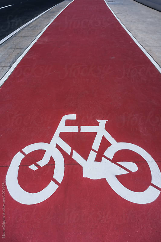 bicycle lane by Mauro Grigollo for Stocksy United