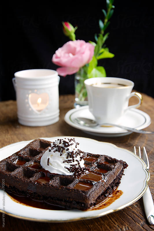 Chocolate waffles by Harald Walker for Stocksy United