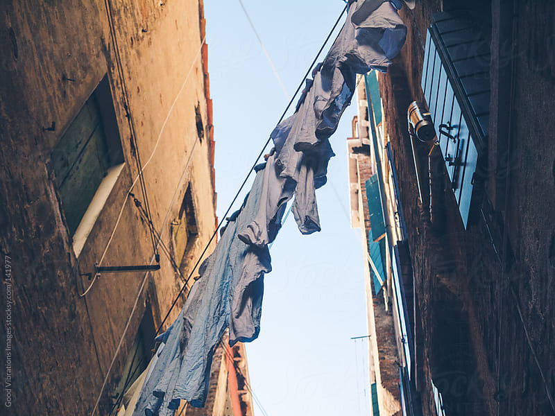 Clothesline in Venice by Good Vibrations Images for Stocksy United