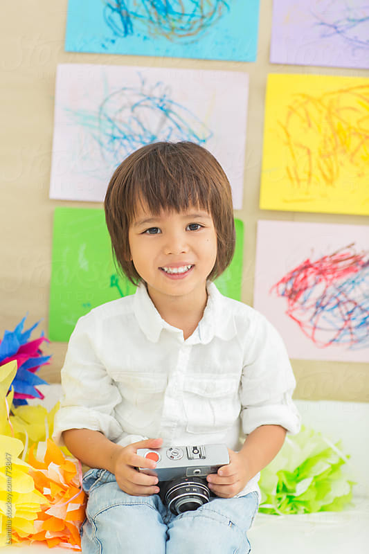 Cute Asian Boy at the Kindergarten by Lumina for Stocksy United