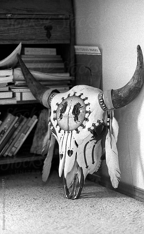 Ornate Buffalo Skull by Kristopher Orr for Stocksy United