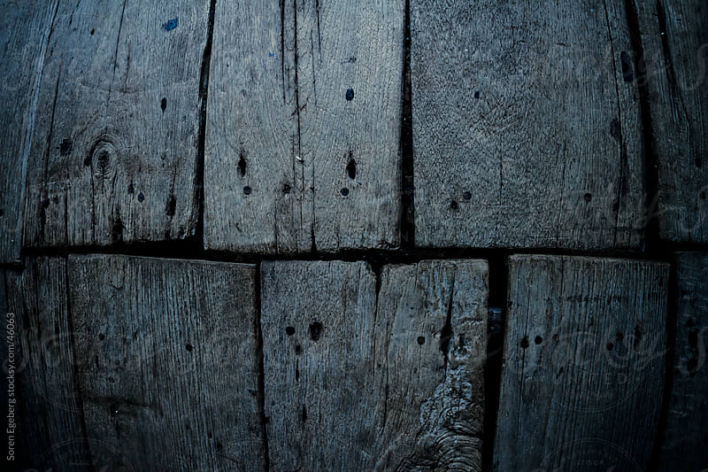 Textured background of old wooden floor boards in close-up by Soren Egeberg for Stocksy United