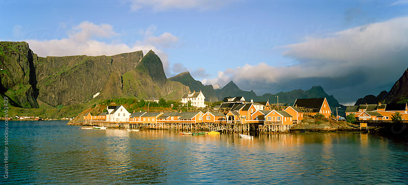Fishing village on Sakrisoya Island, Moskenesoya, Lofoten Islands, Nordland, Norway, Scandinavia, by Gavin Hellier for Stocksy United