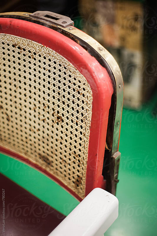 Details of barber armchair by Vera Lair for Stocksy United