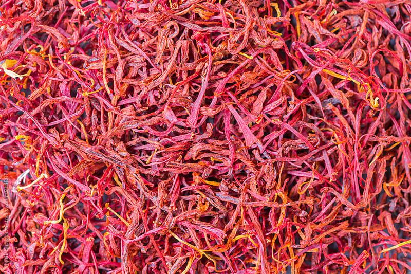 Saffron in macro closeup texture by Marilar Irastorza for Stocksy United