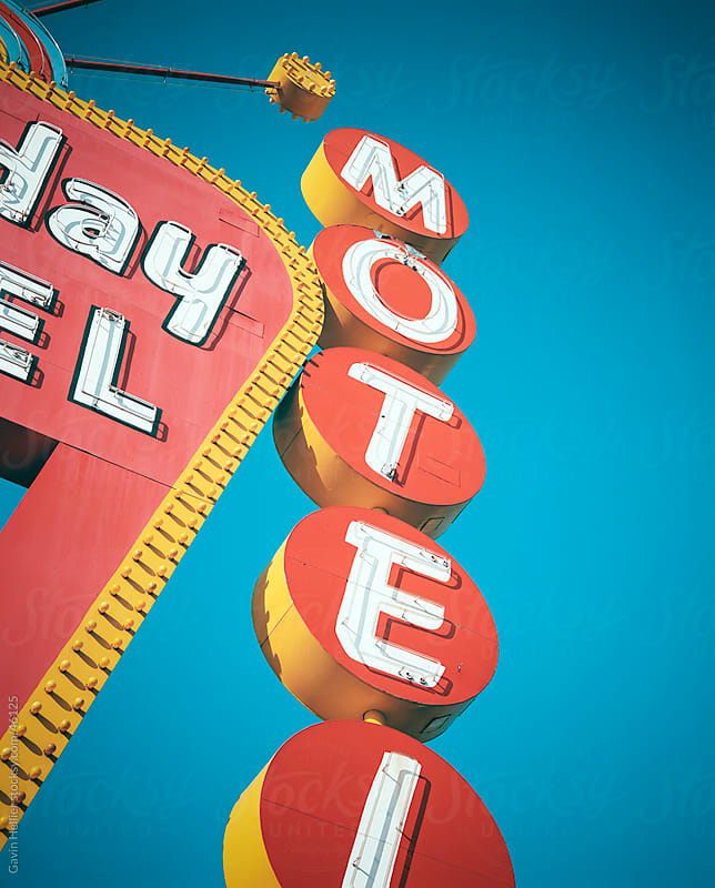 Motel sign, The Strip, Las Vegas, Nevada, United States of America, North America by Gavin Hellier for Stocksy United