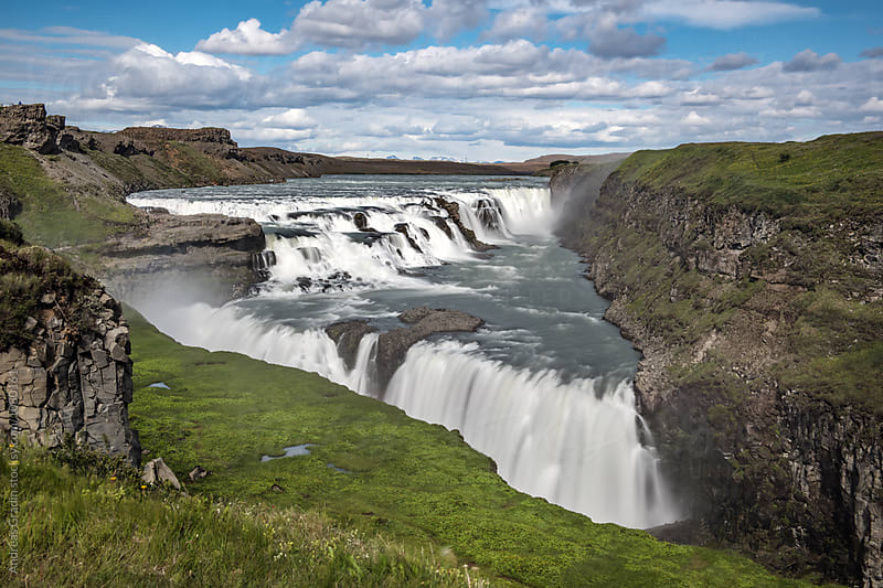Iceland waterfall by Andreas Gradin for Stocksy United