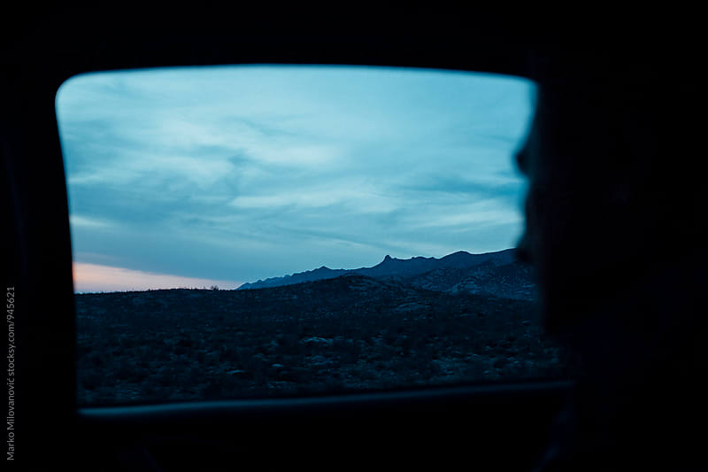View through the window of car by Marko Milovanović for Stocksy United