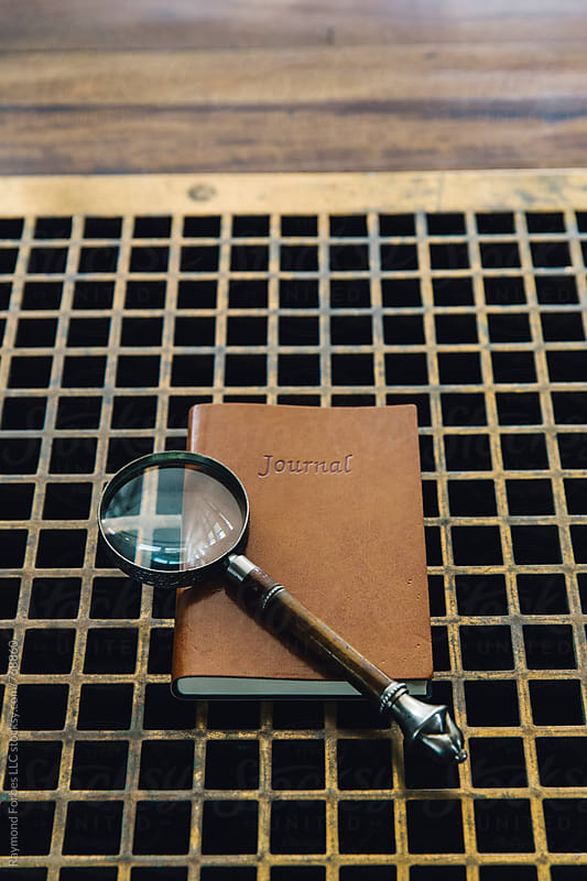 Magnifying Glass with Journal by Raymond Forbes LLC for Stocksy United