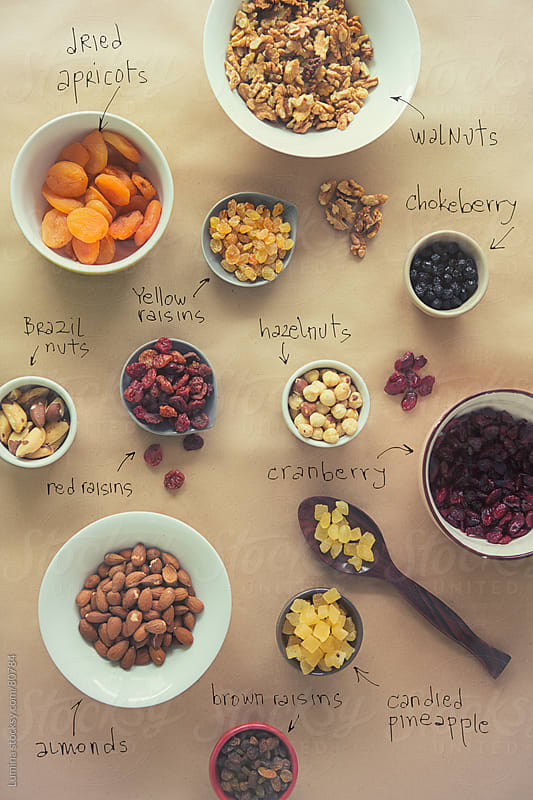 Nuts and Dried Fruit by Lumina for Stocksy United