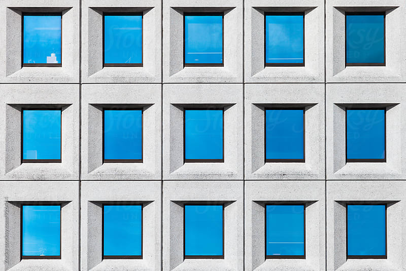 Windows pattern in a modern building facade by Zocky for Stocksy United
