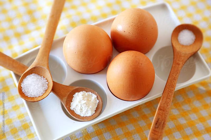 basic baking ingredients by Sonja Lekovic for Stocksy United