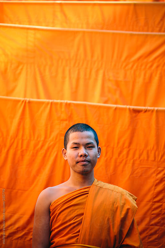 Portrait of a Buddhist monk by michela ravasio for Stocksy United