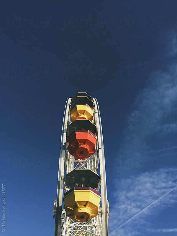 Colorful Ferris Wheel by Rob Martinez for Stocksy United