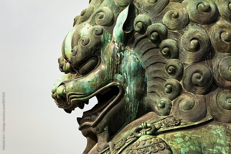 Bronze Lion, Forbidden City Beijing, China by Mental Art + Design for Stocksy United