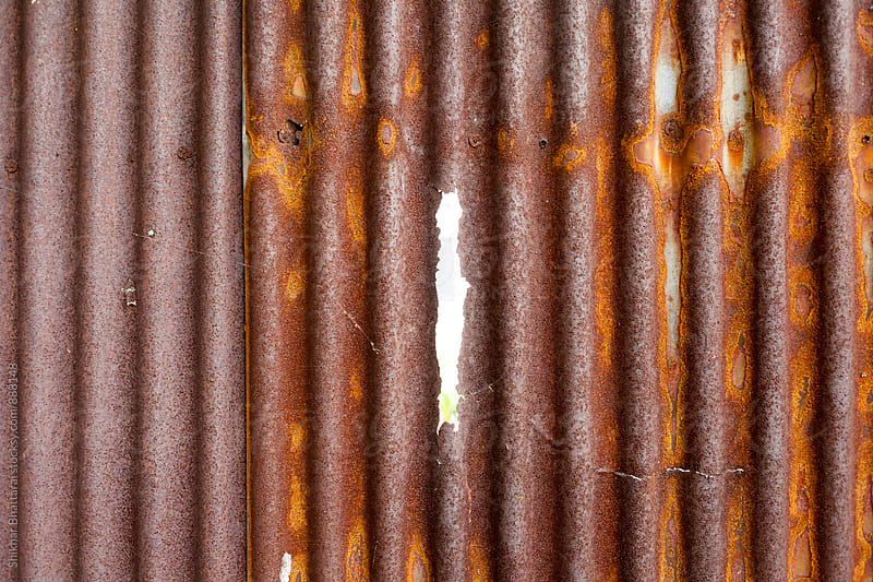 Background of an old rusted zinc sheet. by Shikhar Bhattarai for Stocksy United