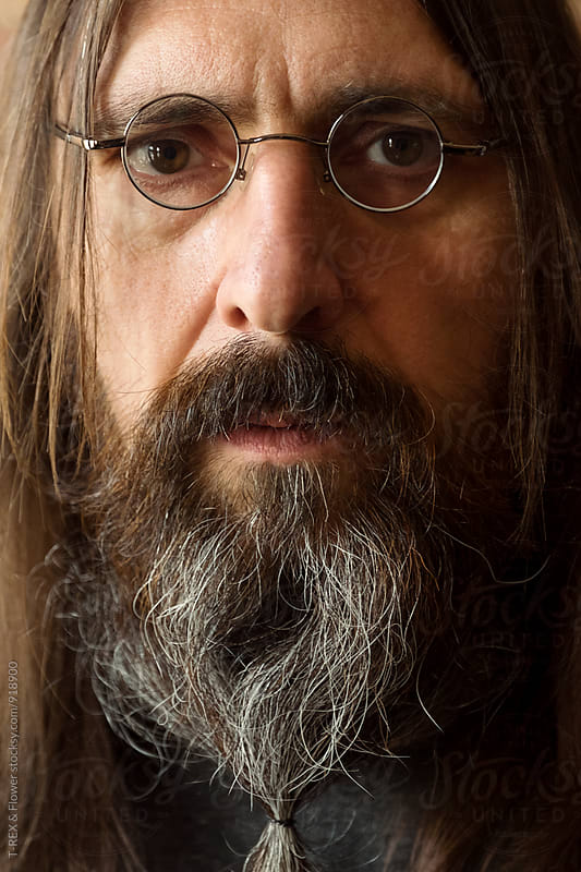 Portrait of aged man in eyeglasses by T-REX & Flower for Stocksy United