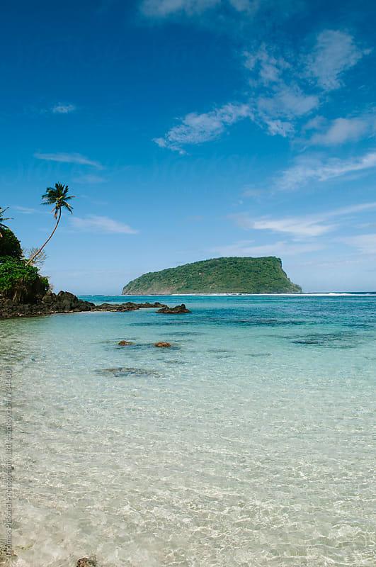 Beach, lagoon and island, South Coast, Samoa. by Thomas Pickard Photography Ltd. for Stocksy United