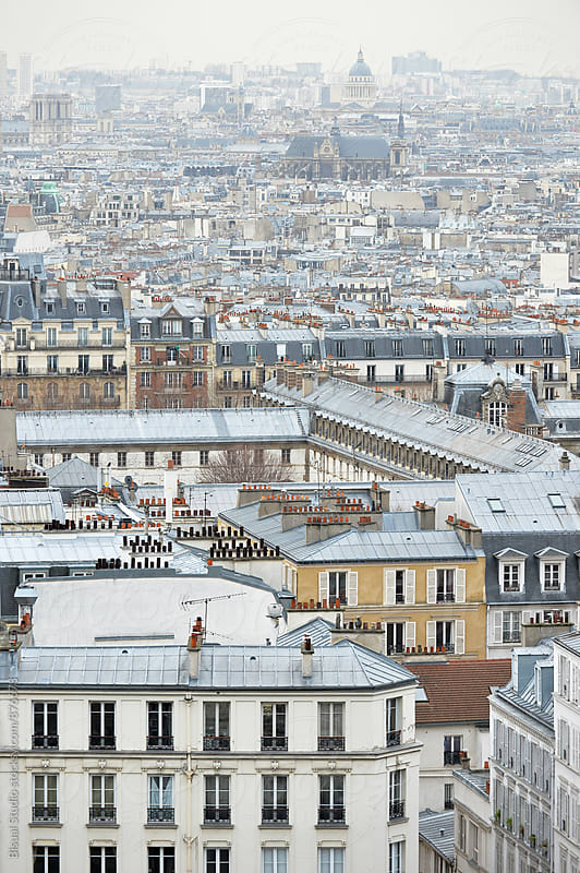 Views of Paris from Montmartre  by Bisual Studio for Stocksy United