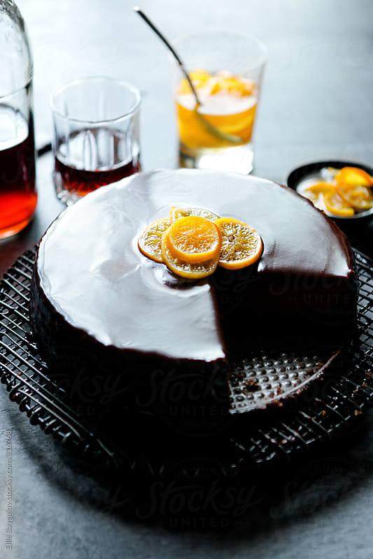 Chocolate cheesecake by Ellie Baygulov for Stocksy United