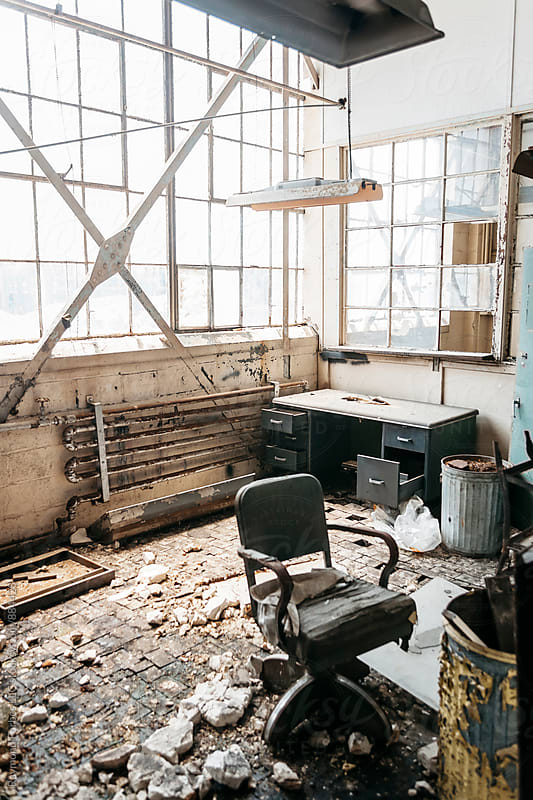 Abandoned Office in Industrial Manufacturing Facility by Raymond Forbes LLC for Stocksy United