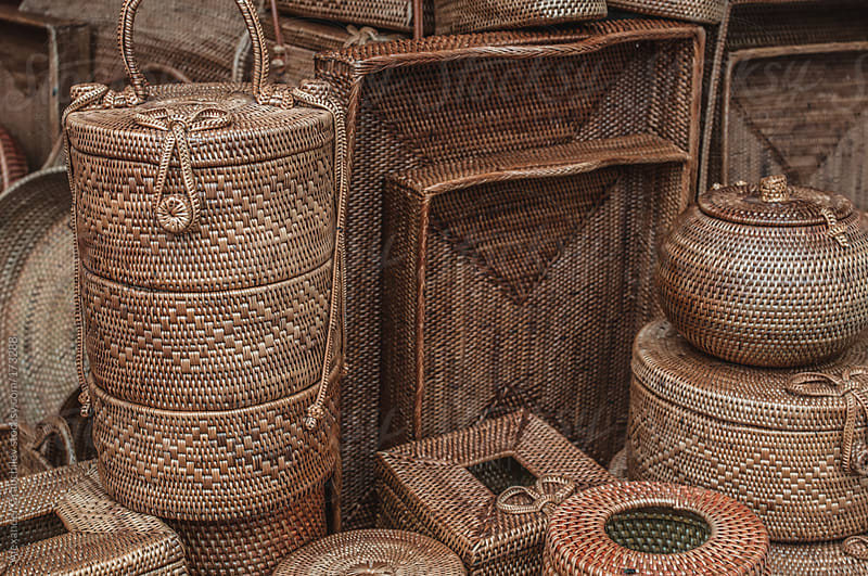 Wicker Basket Background by Alexander Grabchilev for Stocksy United