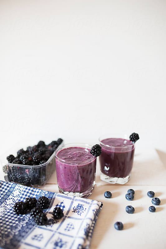 Blackberry smoothie by Jovana Rikalo for Stocksy United