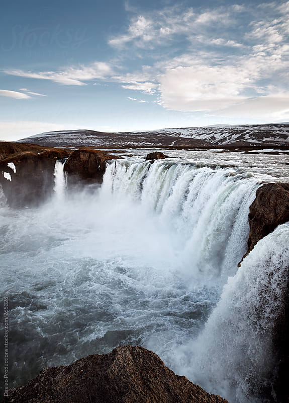 Iceland waterfall  by Daxiao Productions for Stocksy United