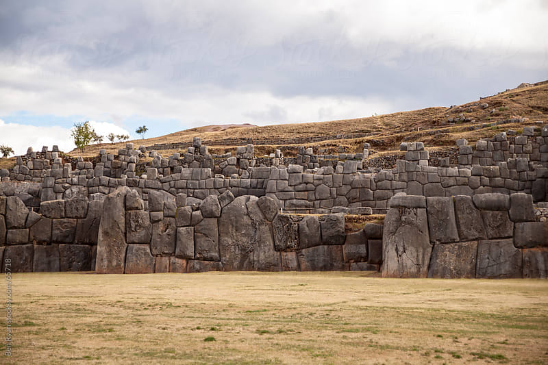 Incan fortress Sacsayhuaman in Cusco Peru by Ben Ryan for Stocksy United