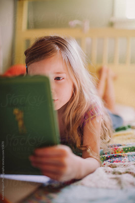 Reading Girl by Kristin Rogers Photography for Stocksy United