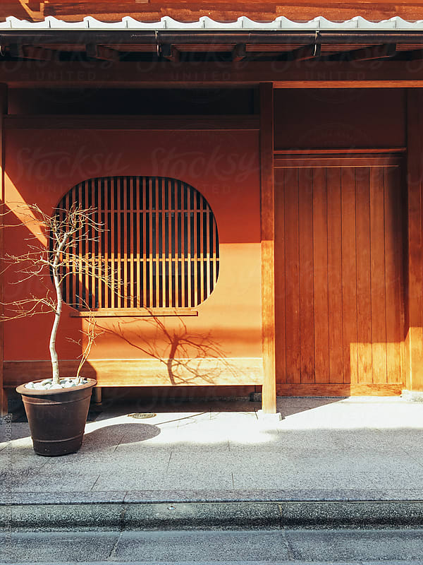 Japanese Architecture - Traditional Kyoto House Front Entrance by Julien L. Balmer for Stocksy United