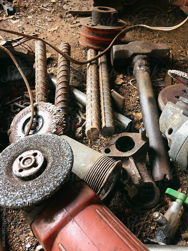 Tools in Metal Workshop by VISUALSPECTRUM for Stocksy United