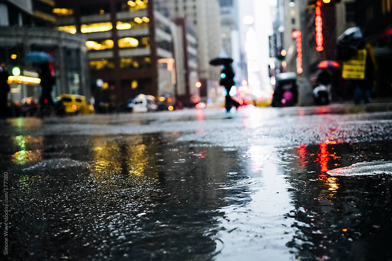 Raining in Manhattan, New York City by GIC for Stocksy United