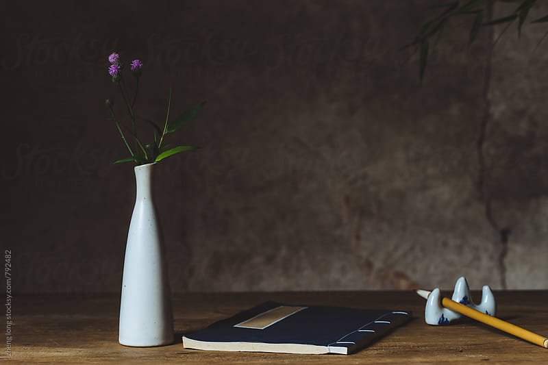 Chinese style desk by zheng long for Stocksy United