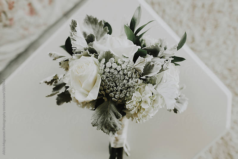 Wedding Day Bridal Bouquet by Alicia Magnuson Photography for Stocksy United
