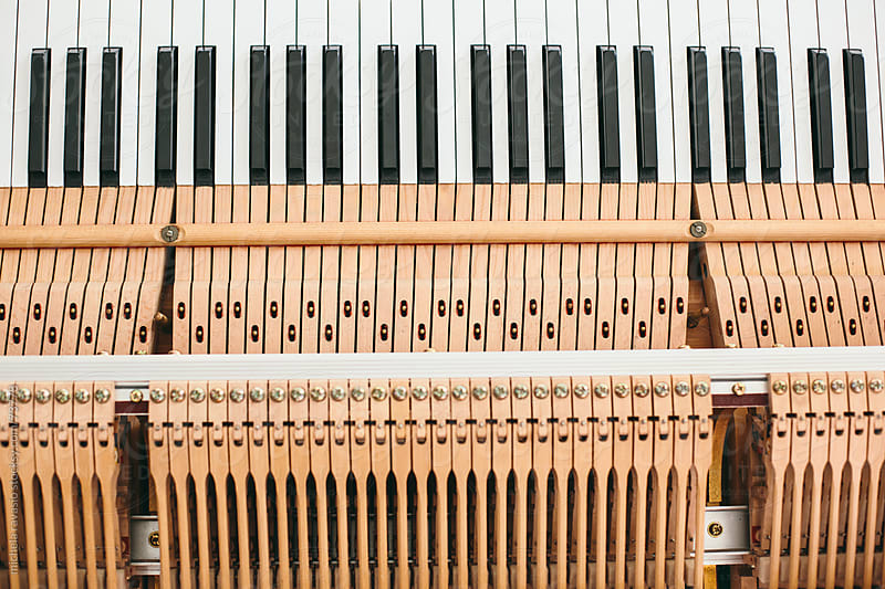 Mechanism of a piano keyboard by michela ravasio for Stocksy United