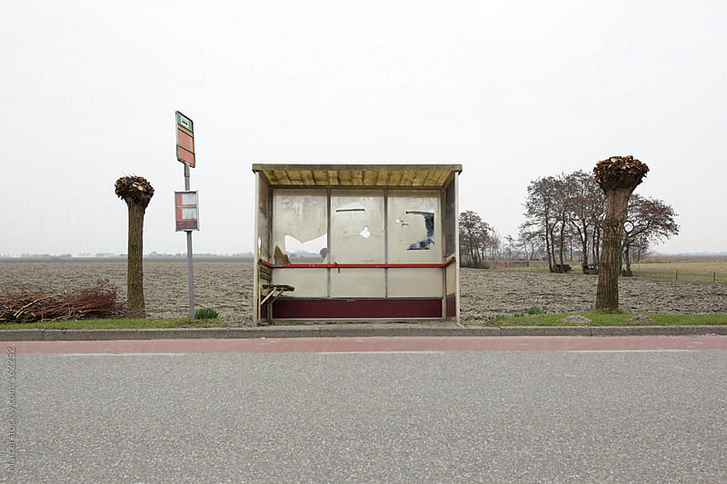 Run-down rural bus shelter by Marcel for Stocksy United